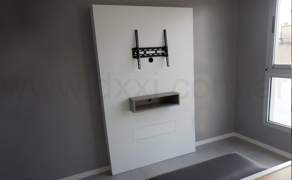 Mueble para tv flat dxxi for Mueble compacto tv