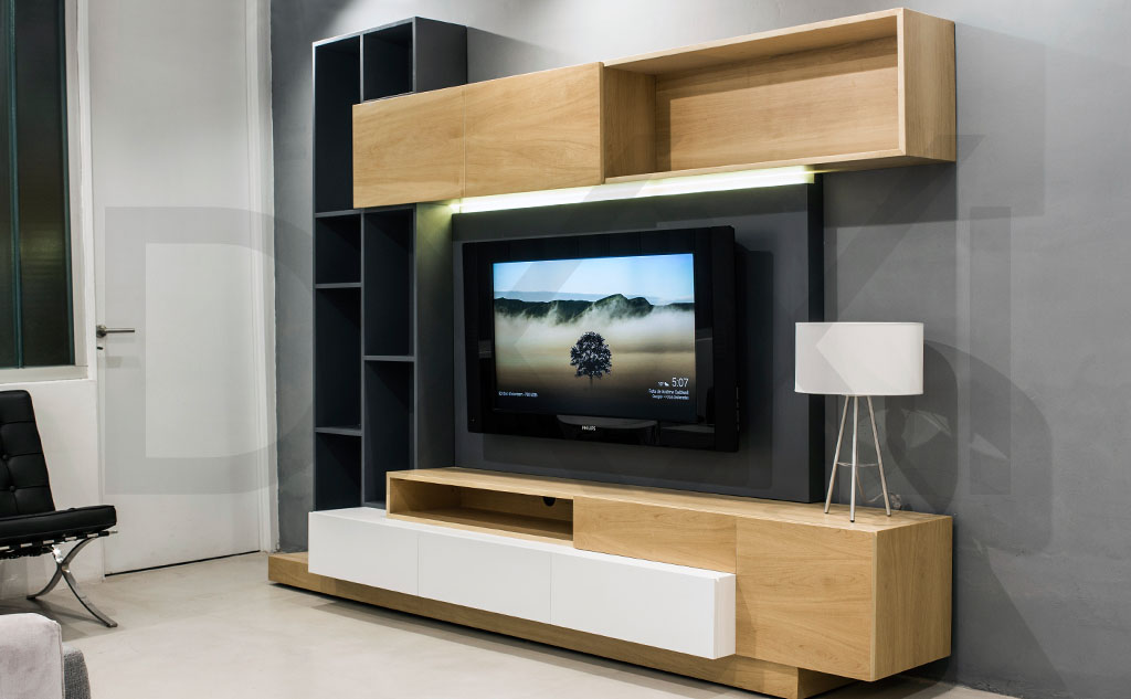 Mueble para tv tetris dxxi for Mueble que esconde tv