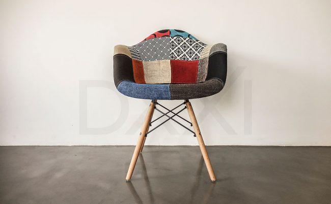 Sillon Eames Eiffel Patchwork, DXXI 01