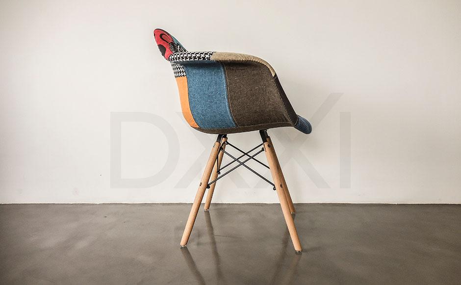 Sillon Eames Eiffel Patchwork, DXXI 03