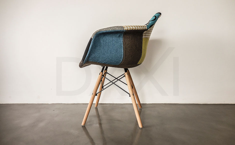 Sillon Eames Eiffel Patchwork, DXXI 07