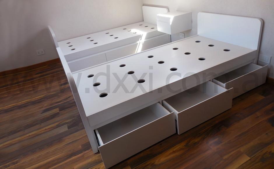 cama smart con cajones DXXI