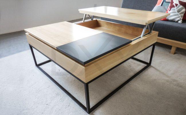 mesa ratona mecano con tapa lecadiza DXXI fabrica y showroom